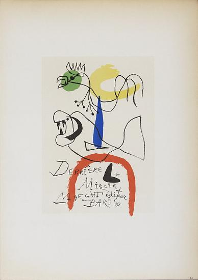 Derriere le Miroir Maeght Editeur-Joan Miro-Collectable Print