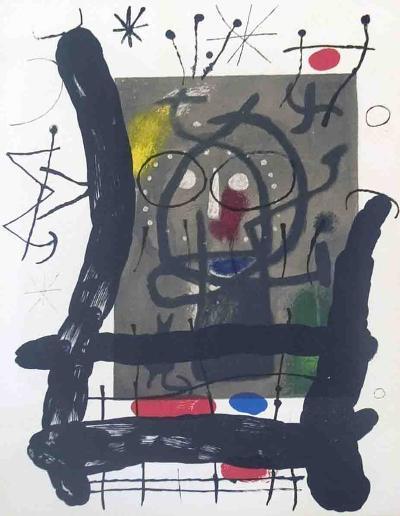 Derriere le Miroir, no. 151-152, pg 25-Joan Miro-Serigraph