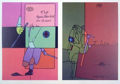 Derriere le Miroir, no. 206 page-Valerio Adami-Collectable Print