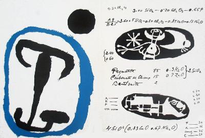 Derriere le Miroir, no. 87-88-89, pg 4,9-Joan Miro-Serigraph