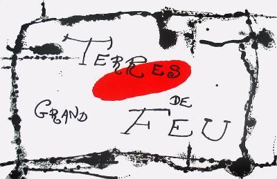 Derriere le Miroir, no. 87-88-89, pg 6,7-Joan Miro-Serigraph
