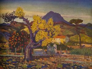 'Pear Tree in Blossom', 1913 (1932) by Derwent Lees