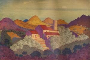 'Sunset near Colliure', c20th century by Derwent Lees