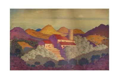 'Sunset near Colliure', c20th century