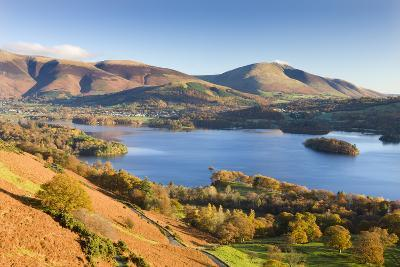Derwent Water Skiddaw and Blencathra, Lake District National Park, Cumbria-Adam Burton-Photographic Print