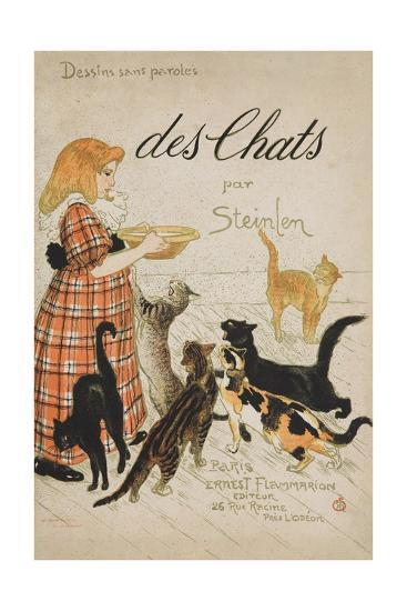Des Chats Book Cover-Th?ophile Alexandre Steinlen-Giclee Print