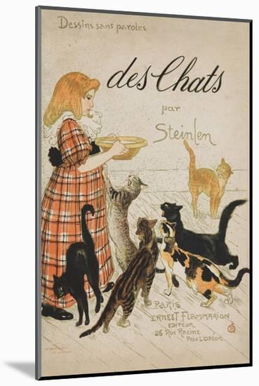 Des Chats Book Cover-Théophile Alexandre Steinlen-Mounted Giclee Print