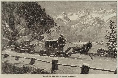 Descending Mont Cenis in Winter--Giclee Print