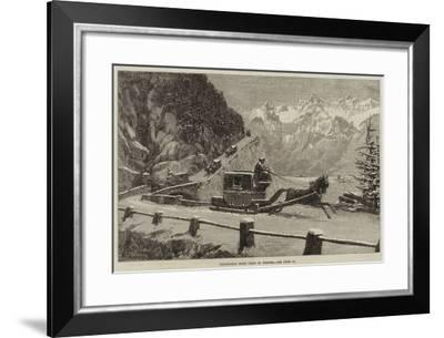 Descending Mont Cenis in Winter--Framed Giclee Print