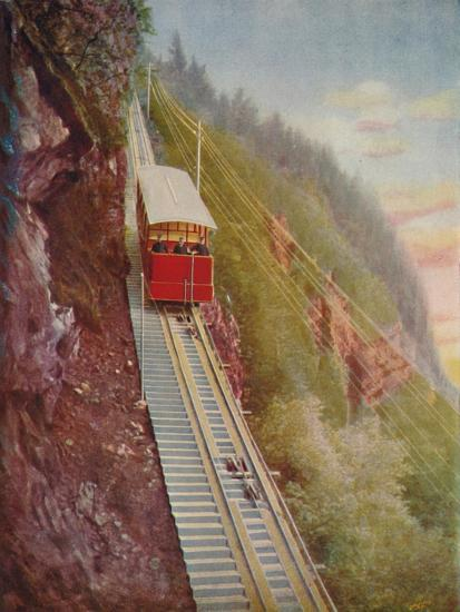 'Descending the Stanserhorn - A Swiss Mountain Railway', 1926-Unknown-Giclee Print