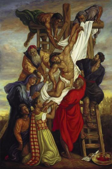 Descent from the Cross-Tim Ashkar-Art Print