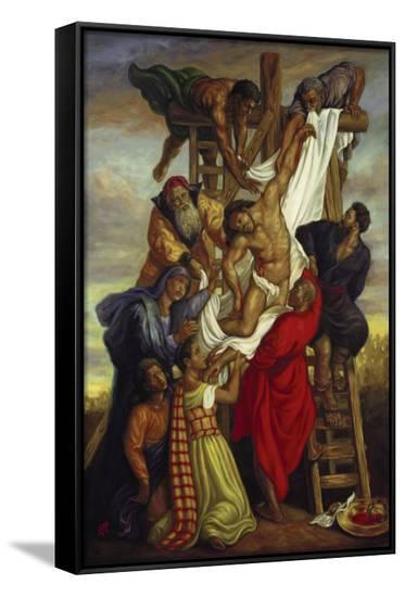 Descent from the Cross-Tim Ashkar-Framed Canvas Print