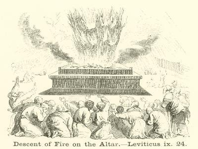 Descent of Fire on the Altar, Leviticus, IX, 24--Giclee Print