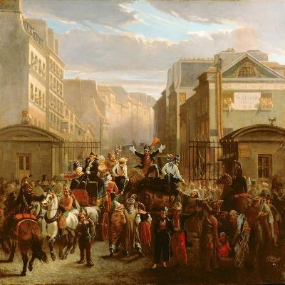 Descente De La Courtille', Belleville-Celestin Francois Nanteuil-Giclee Print