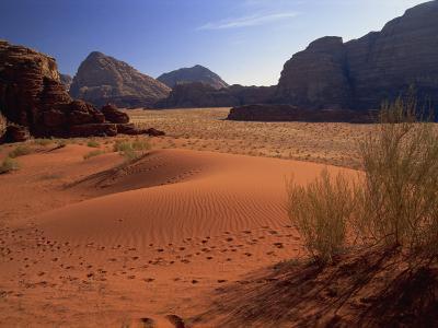 Desert at Wadi Rum, Jordan, Middle East-Fred Friberg-Photographic Print