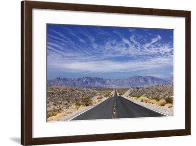 Desert Highway near Death Valley.-Jon Hicks-Framed Photographic Print