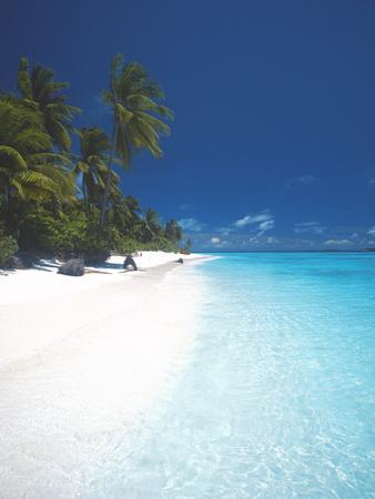 Desert Island, Baa Atoll, the Maldives, Indian Ocean, Asia-Sakis Papadopoulos-Photographic Print
