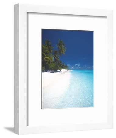 Desert Island, Baa Atoll, the Maldives, Indian Ocean, Asia-Sakis Papadopoulos-Framed Photographic Print