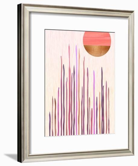 Desert Moonlight-Modern Tropical-Framed Art Print