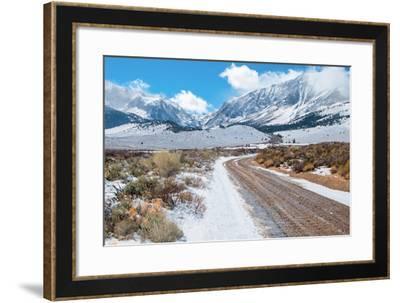 Desert Mountain Road in Winter-wakr10-Framed Photographic Print