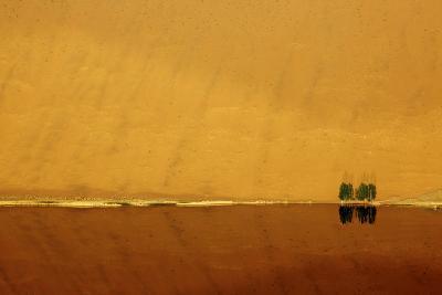Desert reflection. Badain Jaran Desert, Inner Mongolia, China.-Ellen Anon-Photographic Print