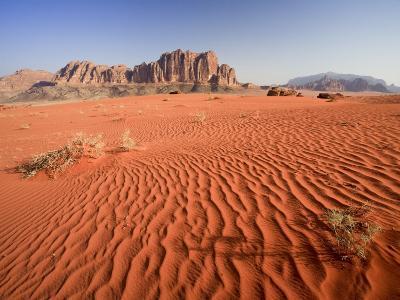 Desert Sands, Wadi Rum Desert and Jebel Qattar Mountain, Jordan-Michele Falzone-Photographic Print