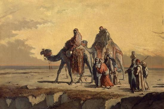 Desert Scene, C. 1863-Francisco Lameyer-Giclee Print