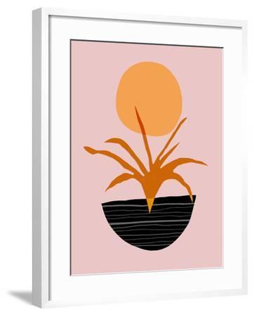 Desert Sunrise-Modern Tropical-Framed Art Print