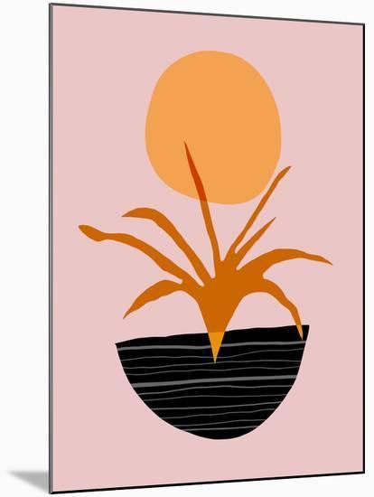 Desert Sunrise-Modern Tropical-Mounted Art Print