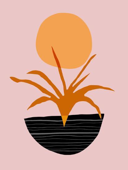 Desert Sunrise-Modern Tropical-Art Print
