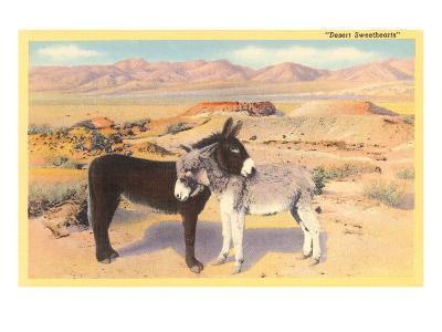 Desert Sweethearts, Nuzzling Burros--Art Print