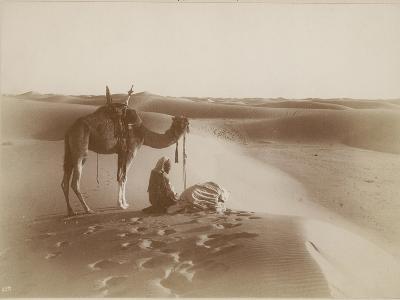Desert Travelers Bow in Praise to Allah-Lehnert & Landrock-Photographic Print