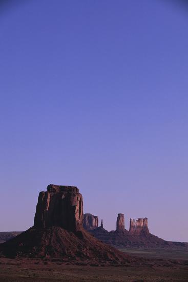 Desert Valley at Dusk-DLILLC-Photographic Print