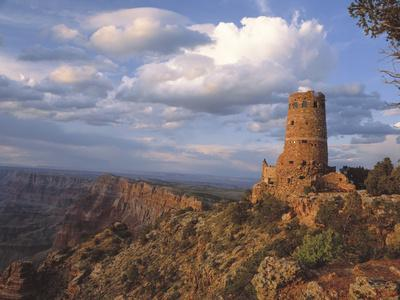 Desert View Watch Tower on the East Rim of Grand Canyon NP, Arizona-Greg Probst-Photographic Print