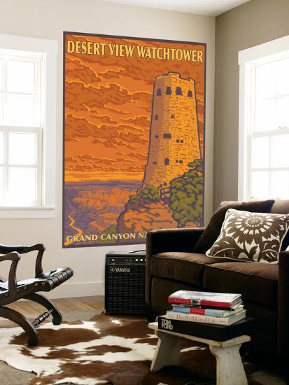 Desert Watchtower, Grand Canyon, Arizona-Lantern Press-Wall Mural