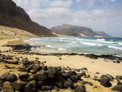 Deserted Beach at Praia Grande, Sao Vicente, Cape Verde Islands, Africa-R H Productions-Photographic Print