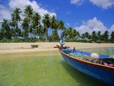 Deserted Beach on South Coast, Phu Quoc Island, Vietnam-Tim Hall-Photographic Print