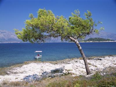 Deserted Island Beach, Lumbarda, Corcula (Korcula) Island, Southern Dalmatia, Croatia, Europe-Peter Higgins-Photographic Print
