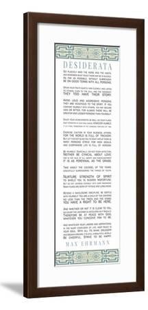 Desiderata Bus Roll Blue Pattern-Quote Master-Framed Art Print