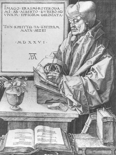 Desiderius Erasmus (1466-1536) of Rotterdam, 1526-Albrecht D?rer-Giclee Print