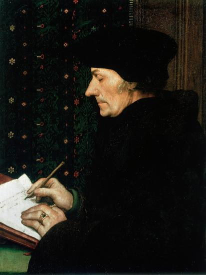 Desiderus Erasmus, Dutch Humanist and Scholar, 1523-Hans Holbein the Younger-Giclee Print