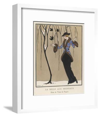 Design by Paquin-Georges Barbier-Framed Premium Giclee Print