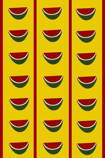 Design-CR-Watermelons in Yellow-Cristina Rodriguez-Giclee Print