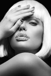 Diamond Lips BW by Design Fabrikken