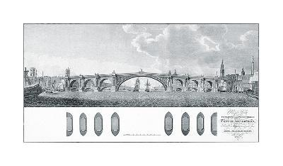 Design for a Bridge with a Centre Arch of Iron-James Basire-Premium Giclee Print
