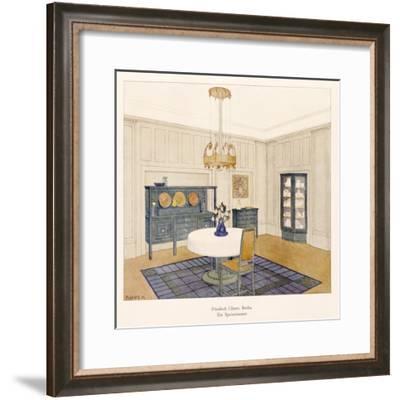 Design for a Dining Room, by Friedrich Glasser--Framed Giclee Print