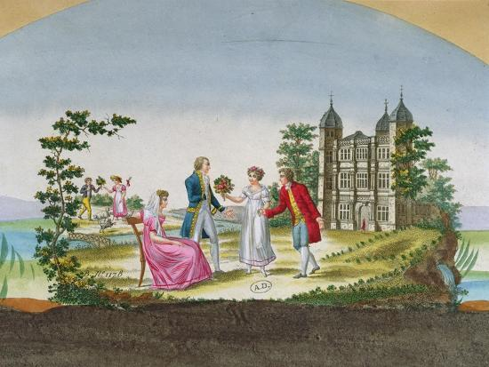 Design for a Fan Decoration. C.1830--Giclee Print