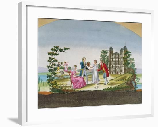 Design for a Fan Decoration. C.1830--Framed Giclee Print