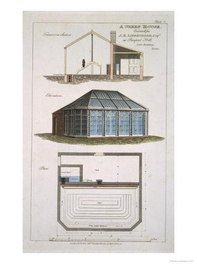 Design For a Green House Executed For J. E Liebenrood at Prospect Hill--Giclee Print
