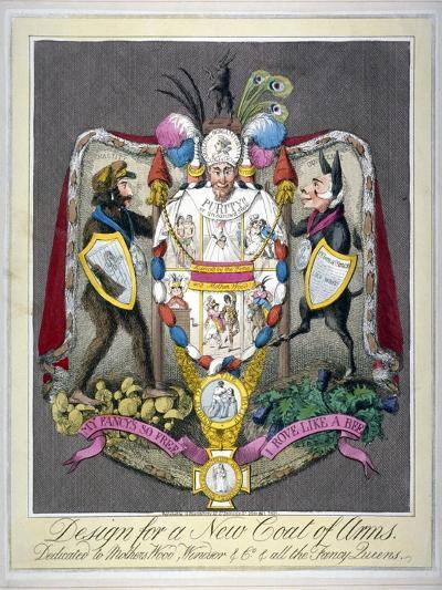 Design for a New Coat of Arms..., 1821--Giclee Print